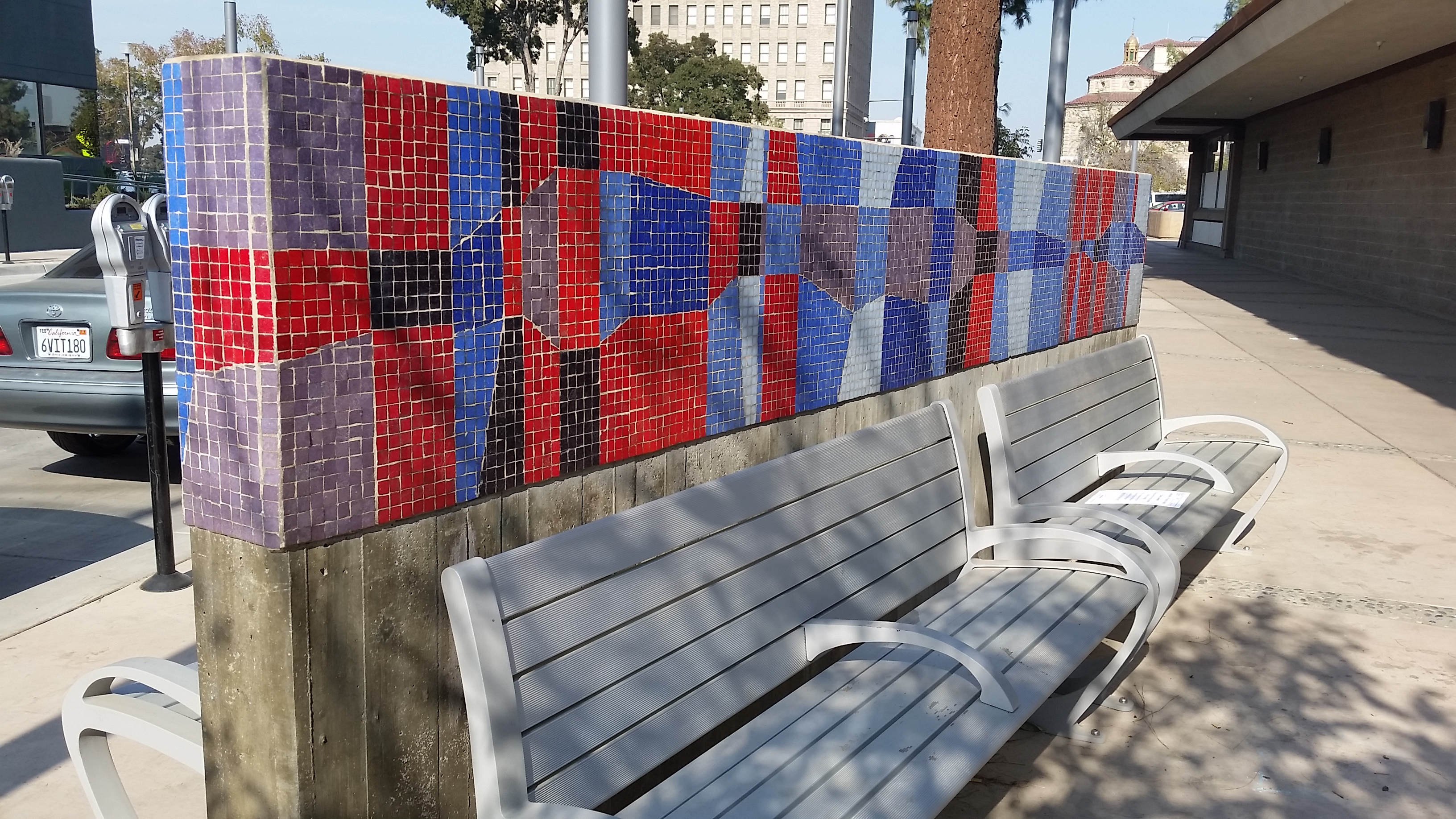 Mosaic benches